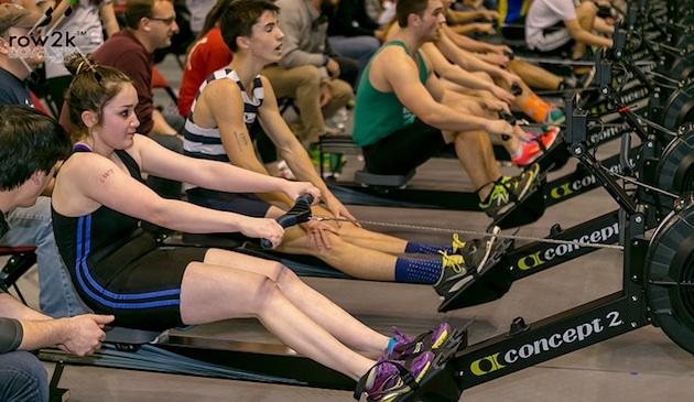 Varsity rower Shannon Fegan pulls hard!